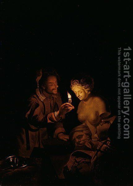 Pygmalion and Galatea by Godfried Schalcken - Reproduction Oil Painting