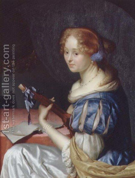The Luteplayer by Godfried Schalcken - Reproduction Oil Painting