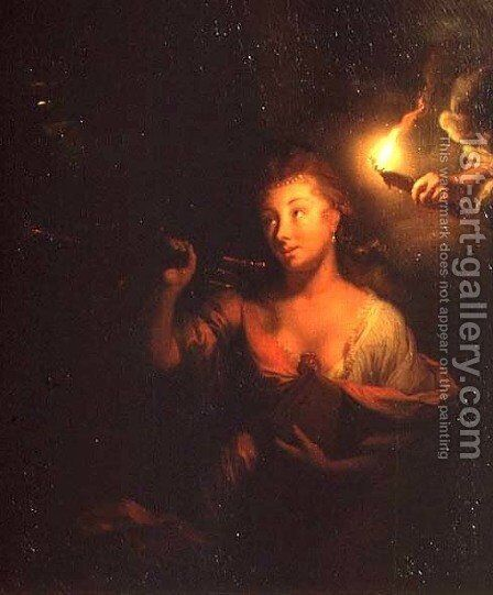 Fame by Godfried Schalcken - Reproduction Oil Painting