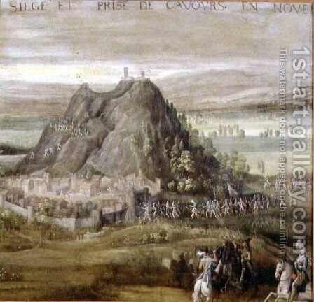 The Siege and Capture of Cavours in November 1592, 1611 by Antoine Schanaert - Reproduction Oil Painting