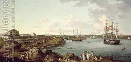 Ships of the Royal Navy at Port Mahon, Minorca by Anton Schantz - Reproduction Oil Painting