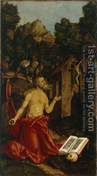 St Hieronymus, c. 1520 by Hans Leonhard Schaufelein - Reproduction Oil Painting