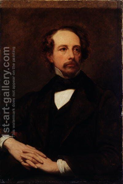 Portrait of Charles Dickens 1812-1870 1855 by Ary Scheffer - Reproduction Oil Painting
