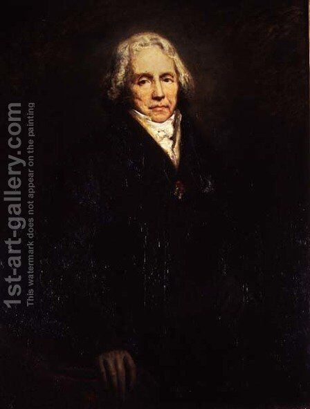 Portrait of Charles Maurice de Talleyrand-Perigord 1754-1838, 1828 by Ary Scheffer - Reproduction Oil Painting