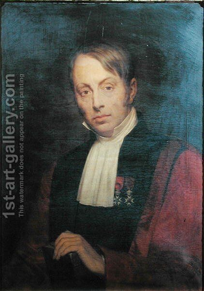 Jean Nicolas Marjolin 1780-1850 by Ary Scheffer - Reproduction Oil Painting