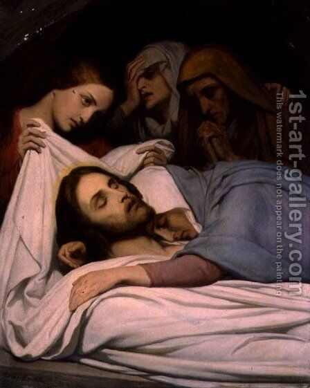 Christ and the Maries The Entombment 1854 by Ary Scheffer - Reproduction Oil Painting
