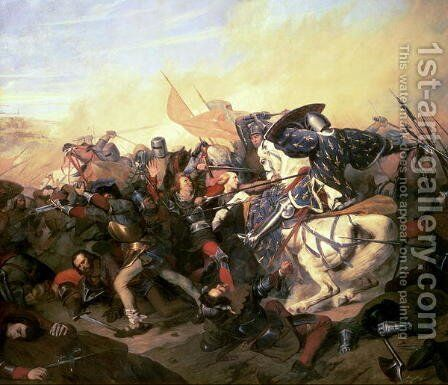 The Battle of Cassel on 23rd August 1328 by Henry Scheffer - Reproduction Oil Painting