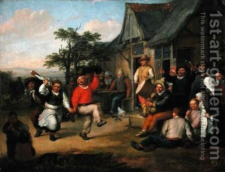 The Peasants Dance, 1678 by Matthias Scheits - Reproduction Oil Painting