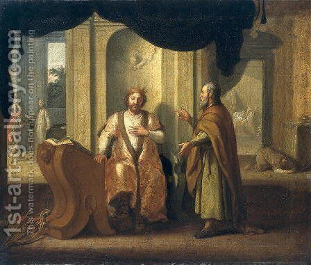 David and Nathan, 1672 by Matthias Scheits - Reproduction Oil Painting