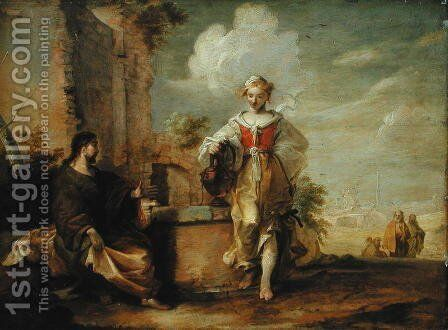 Christ and the Samaritan Woman by Matthias Scheits - Reproduction Oil Painting