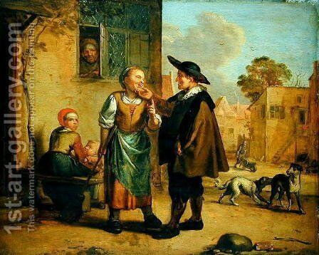 Age is no Protection Against Foolishness by Matthias Scheits - Reproduction Oil Painting