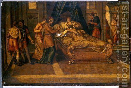 Scenes from the Story of David, 1561 by Andrea Schiavone - Reproduction Oil Painting