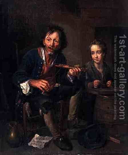 The Musicians by Johann Franz von der Schlichten - Reproduction Oil Painting