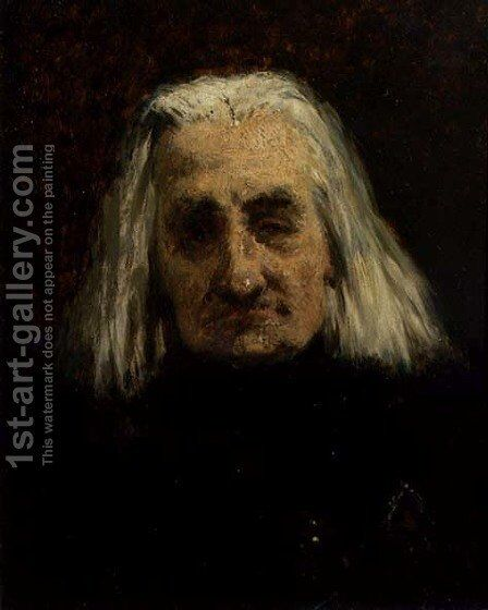 Portrait of Franz Liszt 1811-1886 by Carl Schlosser - Reproduction Oil Painting