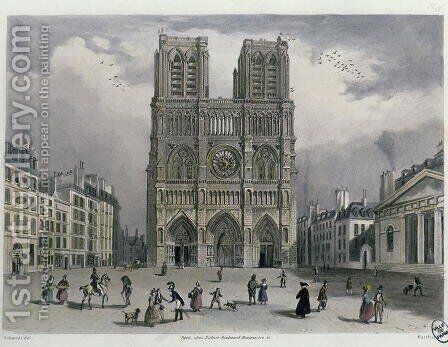 Notre-Dame cathedral, 1832 by (after) Schmidt, Bernhard - Reproduction Oil Painting