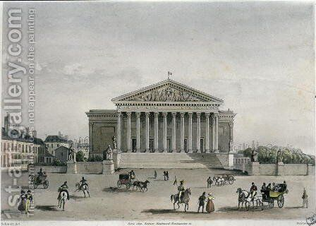 The Chamber of Deputies, Paris, 1832 by (after) Schmidt, Bernhard - Reproduction Oil Painting