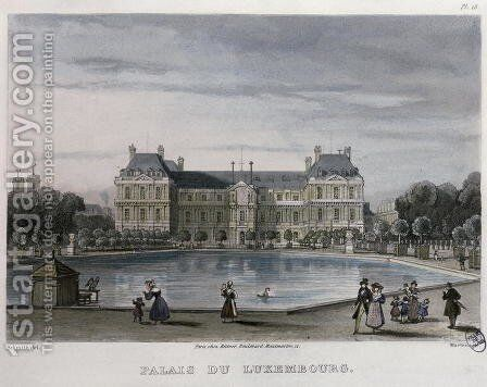 The Luxembourg Palace, 1832 by (after) Schmidt, Bernhard - Reproduction Oil Painting
