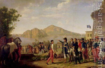 Joachim Murat 1767-1815 Marshal of France and King of Naples Ordering the Capture of Capri in 1808 by Johann Heinrich Schmidt - Reproduction Oil Painting