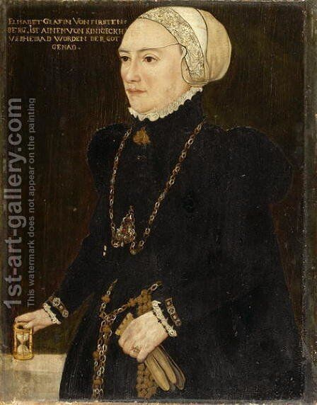 Portrait of Countess Elizabeth von Fuerstenberg, c.1550 by Hans, the Younger Schoepfer or Schopfer - Reproduction Oil Painting