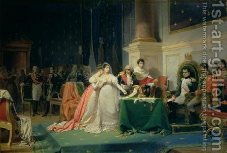 The Divorce of Empress Josephine, 15th December 1809, 1846 by Frederic Henri Schopin - Reproduction Oil Painting