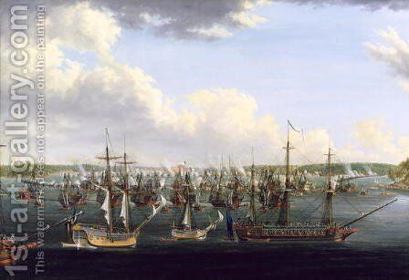 The Battle at Fredrikshamn, 15 May 1790 by Johan Tietrich Schoultz - Reproduction Oil Painting
