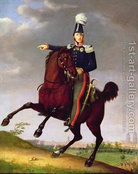 Friedrich Wilhelms III by Antonio Schrader - Reproduction Oil Painting