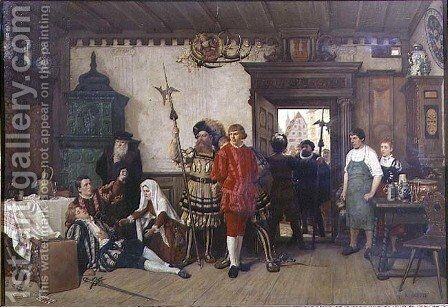 The Quarrel by H. Schuch - Reproduction Oil Painting