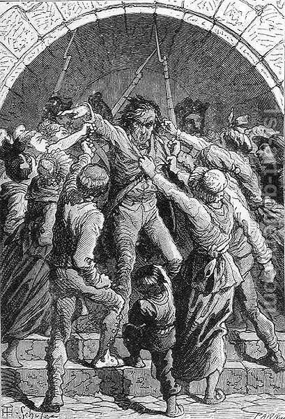 Death to the Royalists, engraved by Stephane Pannemaker 1847-1930, from The History of France, by Emile de Bonnechose, published by Ward, Lock and Co, London by (after) Schuler, Jules Theophile - Reproduction Oil Painting