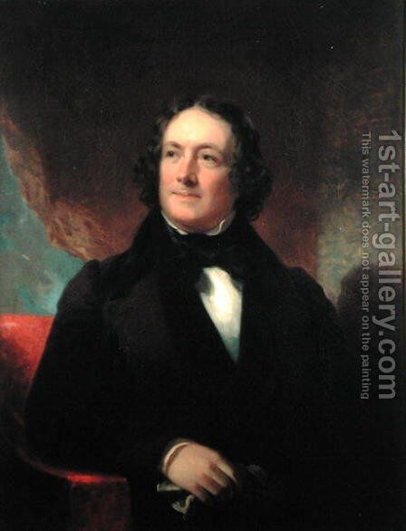Nicholas Biddle 1750-78 copy of an original by James Peale by Christian Schussele - Reproduction Oil Painting