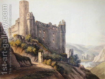 Thurnberg, engraved by T. Sutherland, from A Picturesque Tour along the Rhine, from Mentz to Cologne, published by R. Ackermann, London, 1820 by Christian Georg II Schutz or Schuz - Reproduction Oil Painting