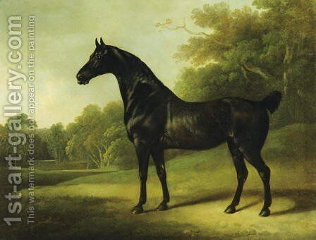 A Bay Horse in a Wooded Landscape, 1814 by Charles Henry Schwanfelder - Reproduction Oil Painting