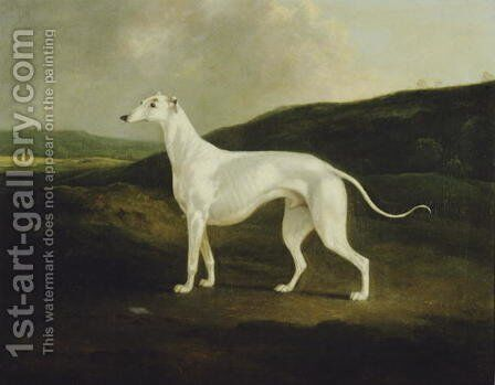 A Greyhound in a Landscape, 1817 by Charles Henry Schwanfelder - Reproduction Oil Painting