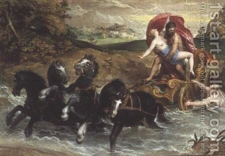 The Rape of Proserpine, c.1573 by Christoph Schwartz or Schwarz - Reproduction Oil Painting