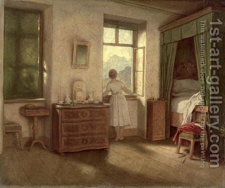 The Morning Hour by Moritz Ludwig von Schwind - Reproduction Oil Painting