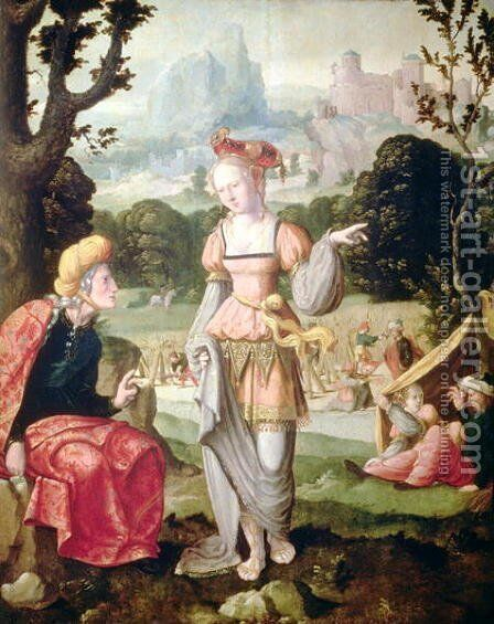Ruth and Naomi in the field of Boaz, c.1530-40 by Jan Van Scorel - Reproduction Oil Painting