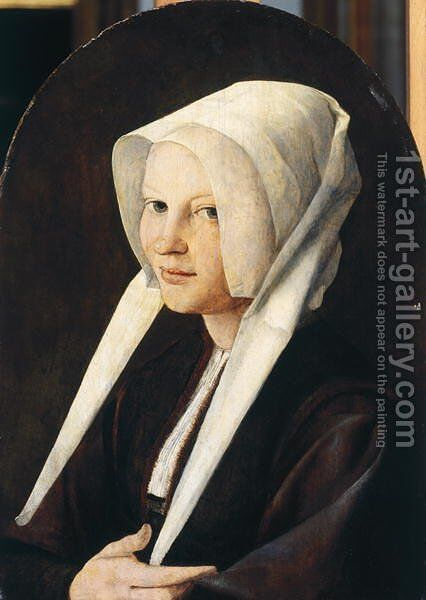 Portrait of Agata von Schooven by Jan Van Scorel - Reproduction Oil Painting