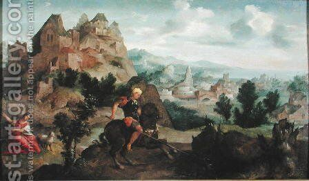 St George and the Dragon by Jan Van Scorel - Reproduction Oil Painting