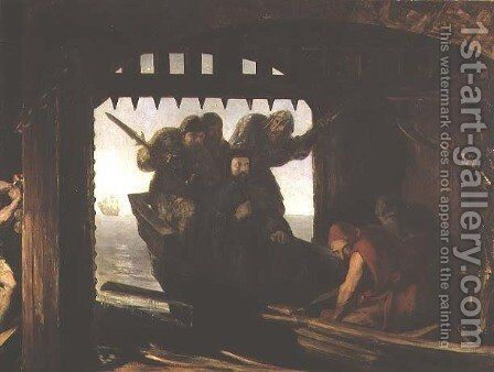 The Traitors Gate by David Scott - Reproduction Oil Painting