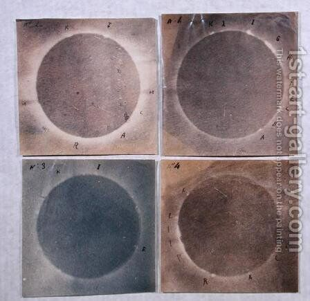 Four views of the solar eclipse of 18th July 1860 by Angelo Secchi - Reproduction Oil Painting