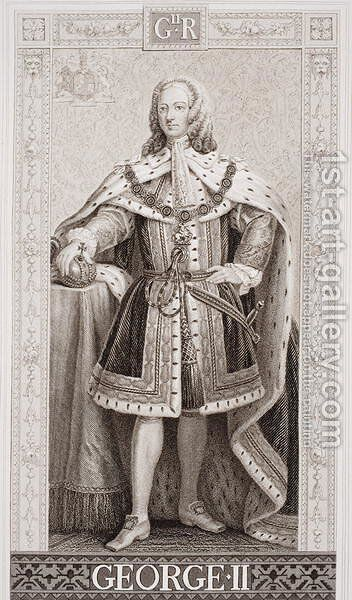George II 1683-1760 from Illustrations of English and Scottish History Volume II by Enoch Seeman - Reproduction Oil Painting