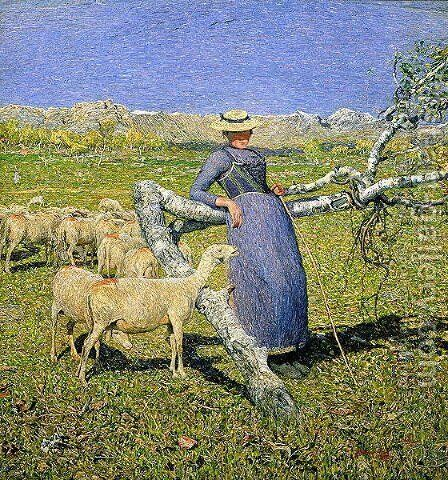 Afternoon in the Alps, 1892 by Giovanni Segantini - Reproduction Oil Painting