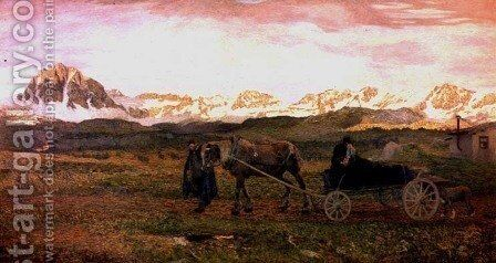 Returning Home, 1895 by Giovanni Segantini - Reproduction Oil Painting