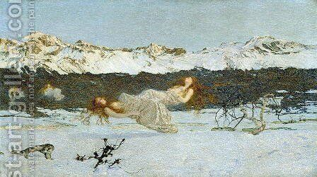 The Punishment of Lust, 1891 by Giovanni Segantini - Reproduction Oil Painting
