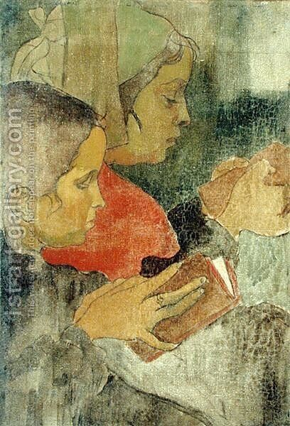 Breton Peasant Women at Mass, 1894 by Armand Seguin - Reproduction Oil Painting
