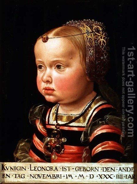 Archduchess Eleanor of Mantua 1534-94, aged two by Jacob Seisenegger - Reproduction Oil Painting