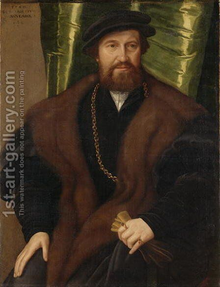 Portrait of a Gentleman Christoph Pissinger, 1540 by Jacob Seisenegger - Reproduction Oil Painting