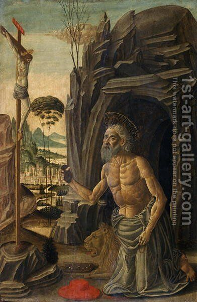 St. Jerome as a Penitent, c.1590 by Jacopo Del Sellaio - Reproduction Oil Painting