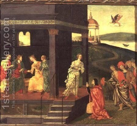 A Betrothal by Jacopo Del Sellaio - Reproduction Oil Painting