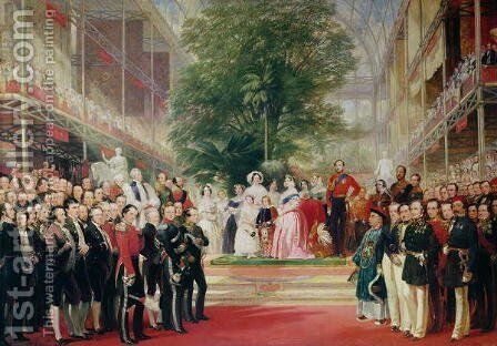 The Opening of the Great Exhibition, 1851-52 by Henry Courtney Selous - Reproduction Oil Painting