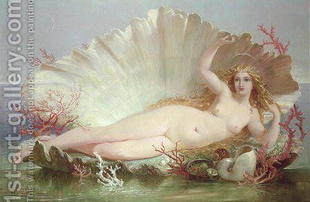 Venus, 1852 by Henry Courtney Selous - Reproduction Oil Painting